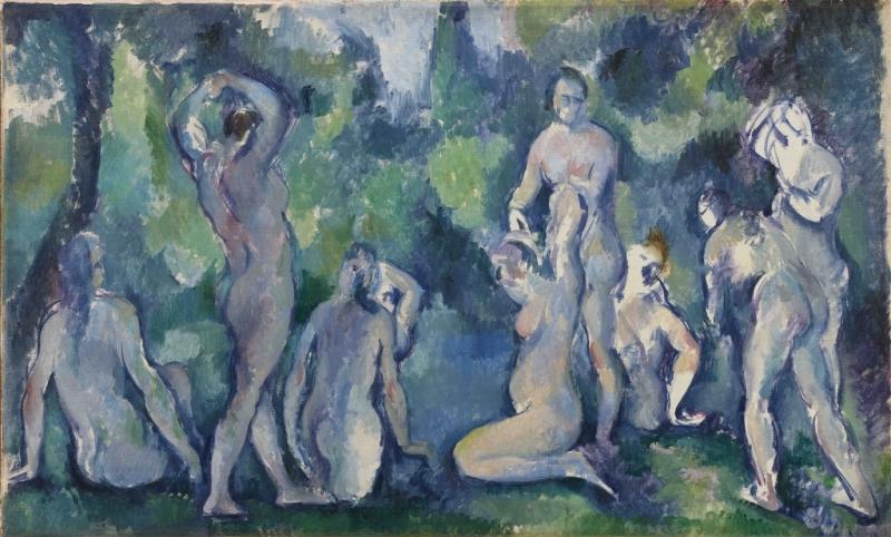 Cezanne baigneuses 1895
