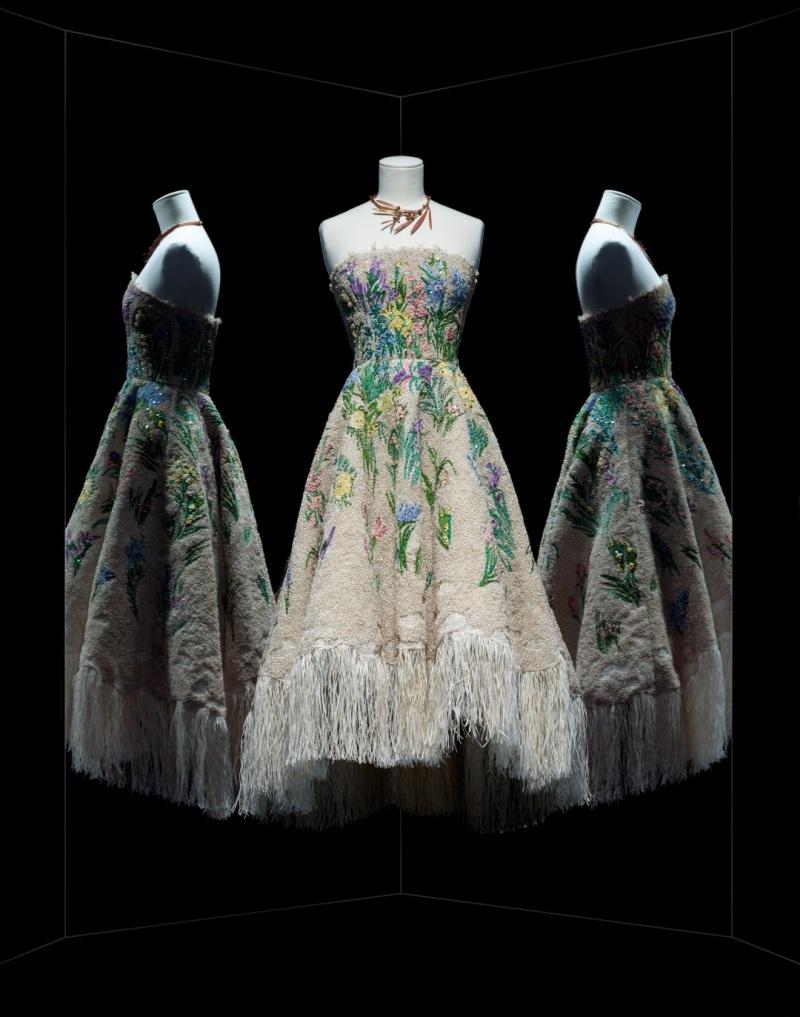 Maria Grazia Chiuri pour Christian Dior. Robe Essence d'herbier, 2017, Musée des Arts Décoratifs