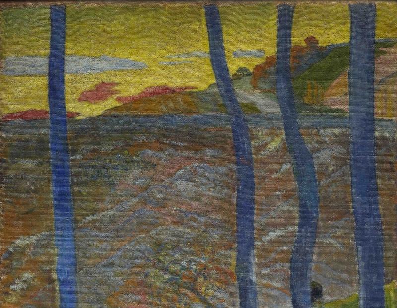 Gauguin arbres bleus 1888