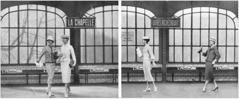 Guy Bourdin, Vogue Paris 1956, Chloé collection printemps-été 1956