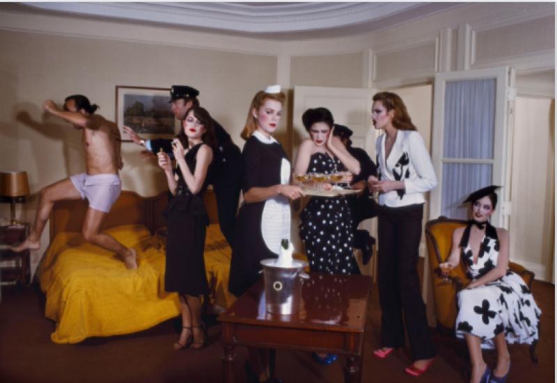 Guy Bourdin, Vogue Paris 1979,Chloé collection printemps-été 1979