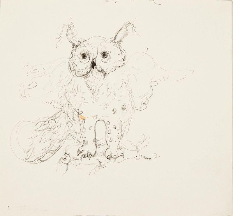 Leonor Fini, Chouette Chat, 1973 - Leonor Fini à la Galerie Minsky