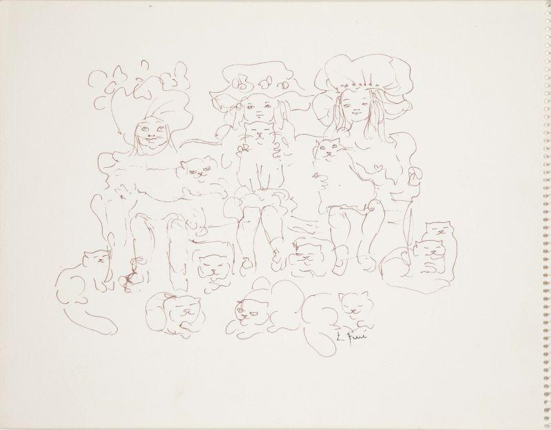Leonor Fini, Les Mutantes, 1970 - Leonor Fini à la Galerie Minsky