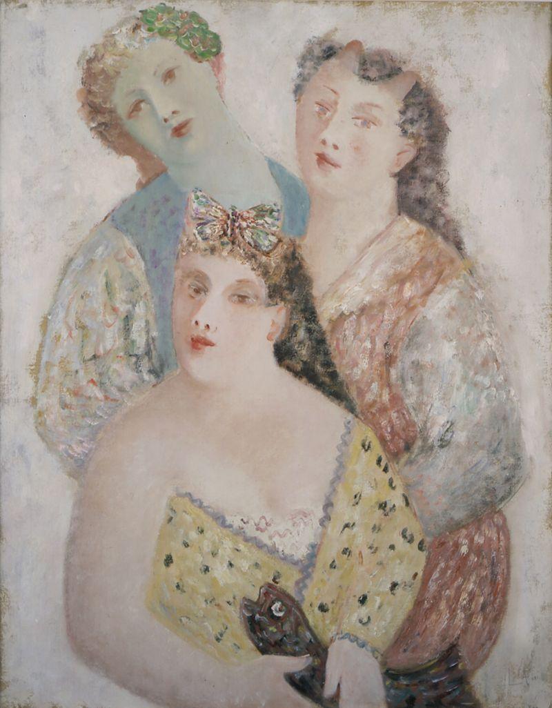 Leonor Fini, Les Trois Faunesses, 1932 - Leonor Fini à la Galerie Minsky