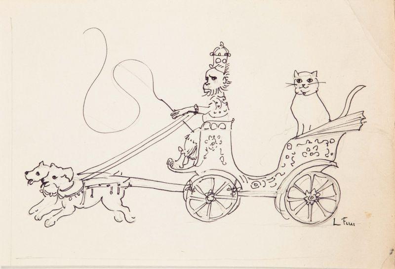 Leonor Fini, Miroir des Chats, 1975 - Leonor Fini à la Galerie Minsky