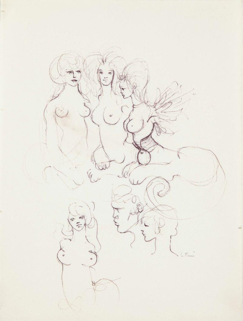 Leonor Fini, Six Sphinges, 1970 - Leonor Fini à la Galerie Minsky