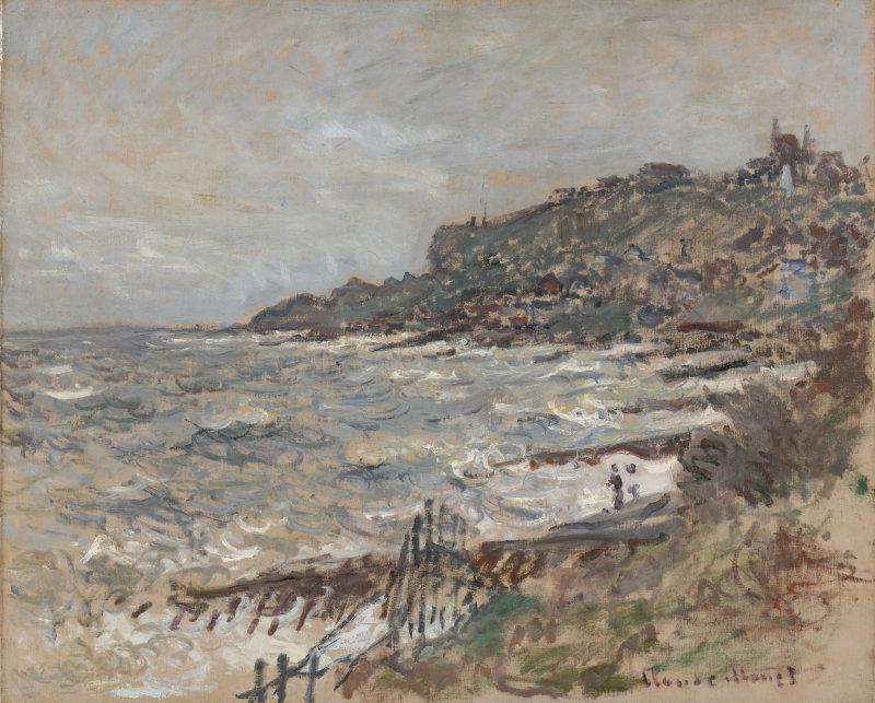 Monet falaise Sainte-Adresse 1880