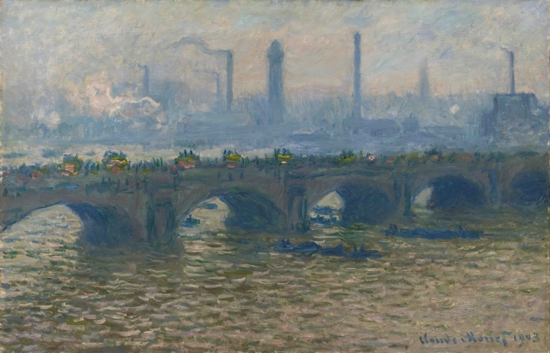 Monet Waterloo bridge 1903