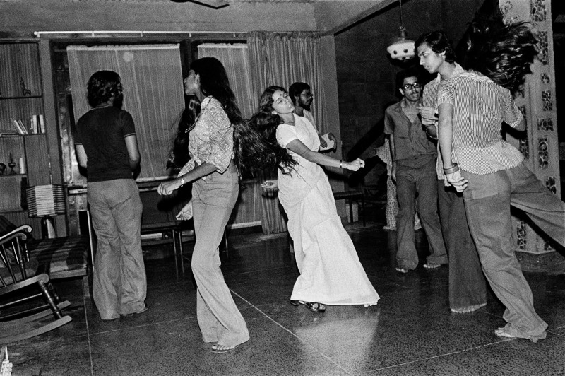 Nommie dancing at a party at Koko's, New Delhi, 1975For MEP - Hi ResPhoto by: PABLO BARTHOLOMEWPhoto credit: PABLO BARTHOLOMEW All rights reserved. For permission and licensing rights: PLEASE CONTACT: pablo@bartholomew.tvOr by cellphone +91 98100 14131