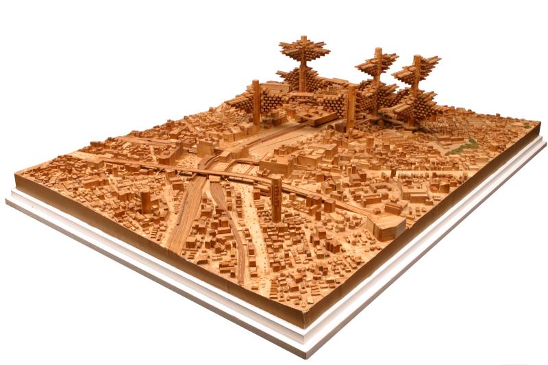 Arata ISOZAKI, Maquette Cluster in the Air, 1982