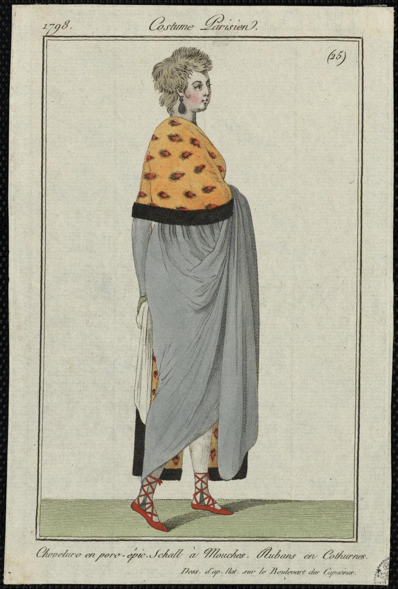 Costume parisien, 1798, Expo Beau comme l'Antique - La Garenne Lemot