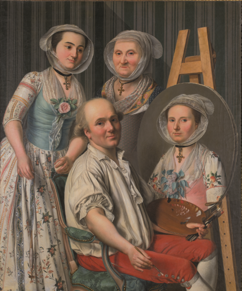 Antoine Raspal, Autoportrait ou le Peintre et sa famille, Musée Fragonard, Grasse