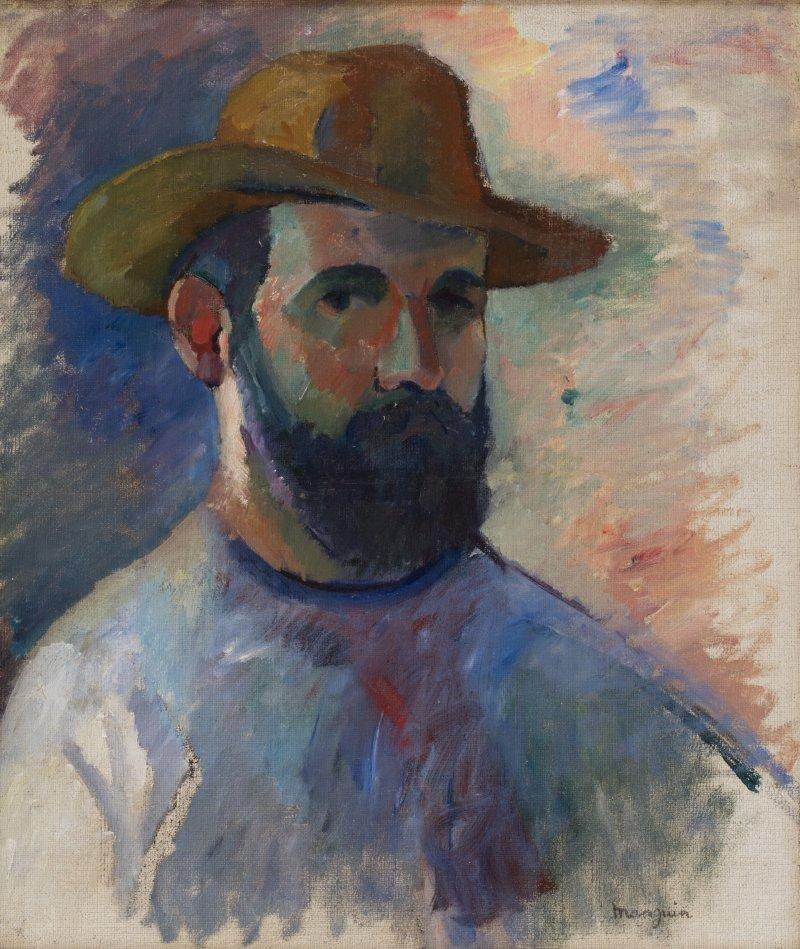 Henri Manguin Autoportrait, 1905 - La volupté de la couleur au musée des impressionnismes de Giverny