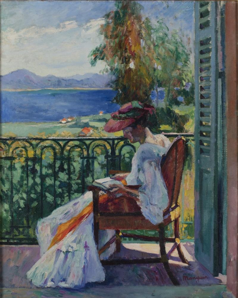 Henri Manguin Jeanne sur le balcon de la Villa Demiere, 1905 - La volupté de la couleur au musée des impressionnismes de Giverny