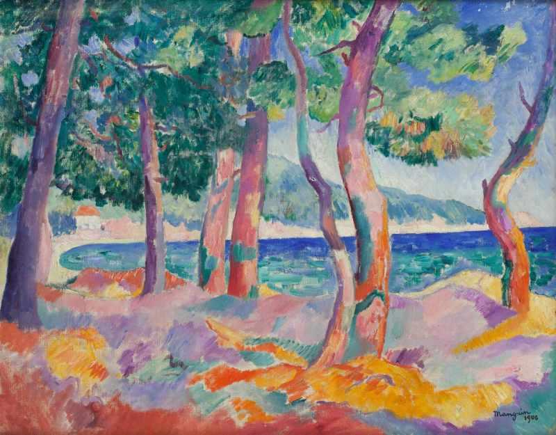 Henri Manguin La Pinede à Cavaliere, 1906- La volupté de la couleur au musée des impressionnismes de Giverny