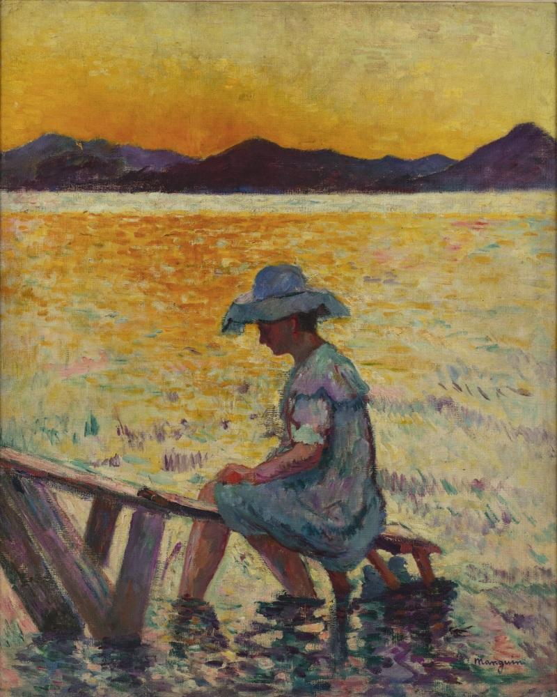 Henri Manguin Saint-Tropez, le coucher de soleil, 1904 - La volupté de la couleur au musée des impressionnismes de Giverny
