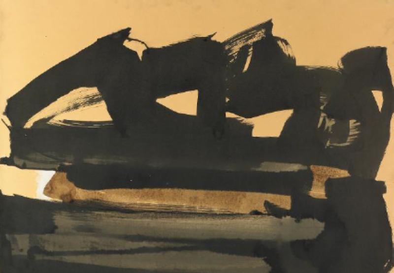 Pierre Soulages, 63-13, 1962, L'invisible vu, centre d'art contemporain de la Matmut
