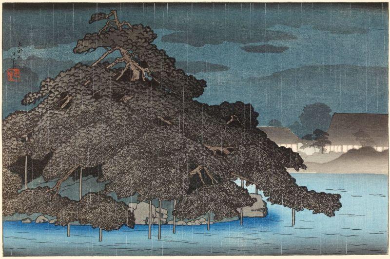 Kawase Hasui, Pluie du soir sur Matsushima, Paysages japonais, Musée Guimet
