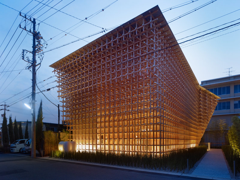 Kengo Kuma, CG Prostho Museum Reasearch Center, Kasugai-shi, Japon