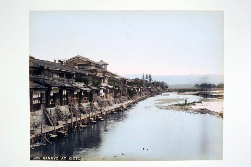 Studio Tamamura, Les rives de la Kamogawa à Kyoto, Paysages japonais, Musée Guimet