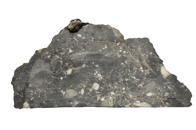 Meteorite lunaire Dar al Gani 400 - Exposition Meteorites, entre ciel et terre au Museum national d'Histoire Naturelle © MNHN_J.C Domenech 2