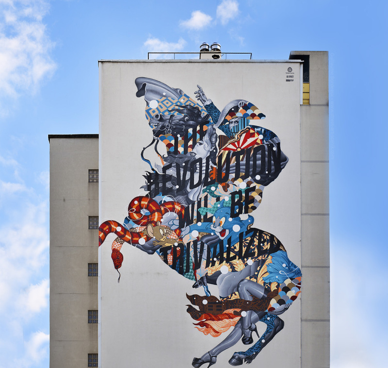 Nuit Blanche, street art, Tristan Eaton, expo in the city