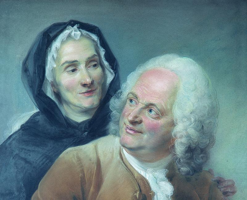 Portrait de Philippe Cayeux, sculpteur d'ornements et de son épouse