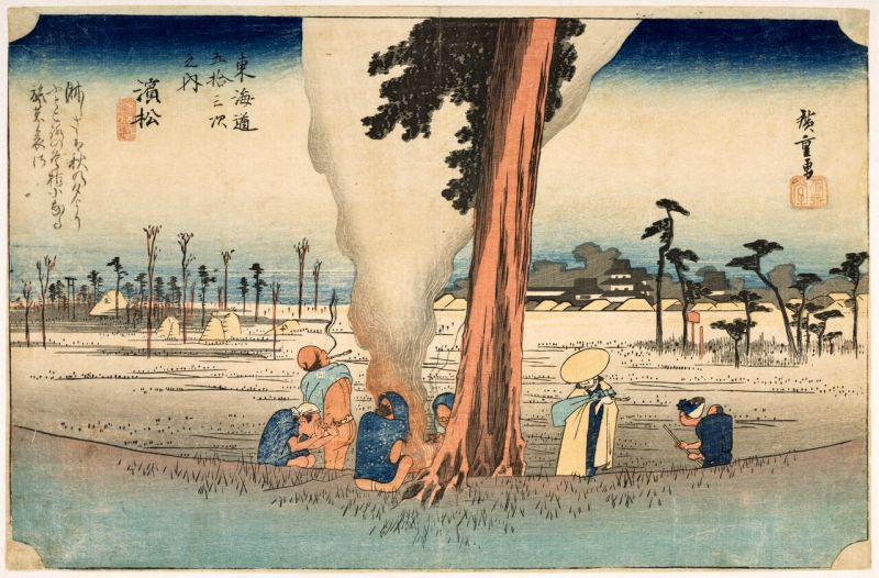 Utagawa Hiroshige, Hamamatsu (29e relais), Paysages japonais, Musée Guimet