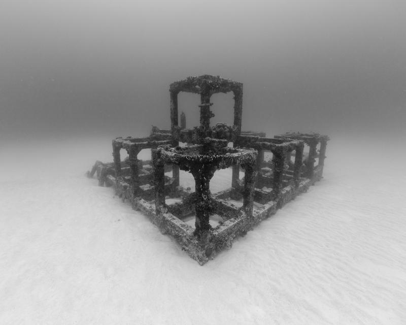 Nicolas Floc'h, Structures productives, récif artificiel, Cubes, -27m, Golfe-Juan, 2014