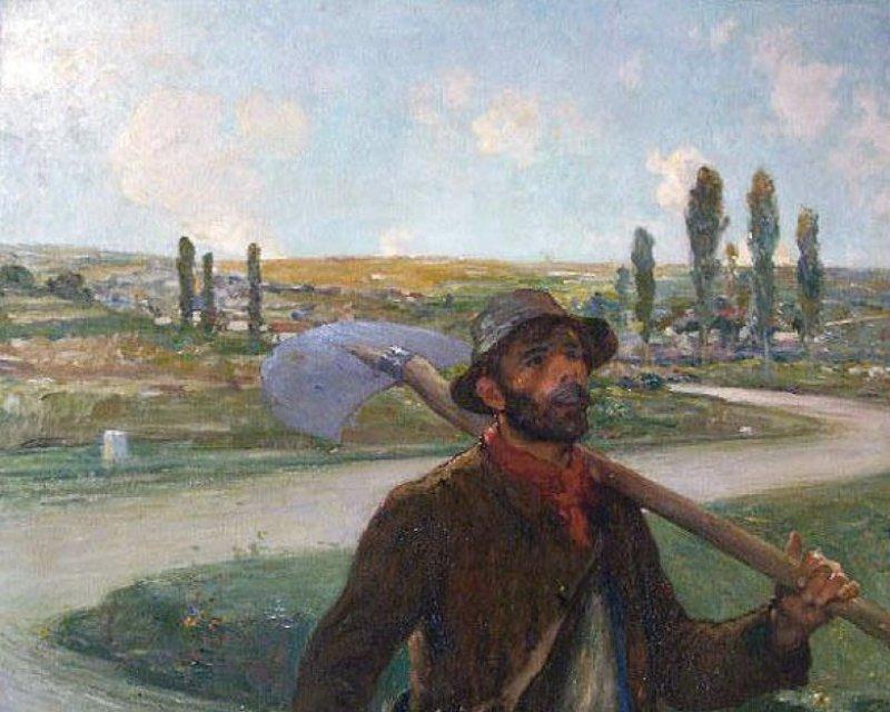 Le chemineau, Peindre sous la IIIème République, MBA Dole