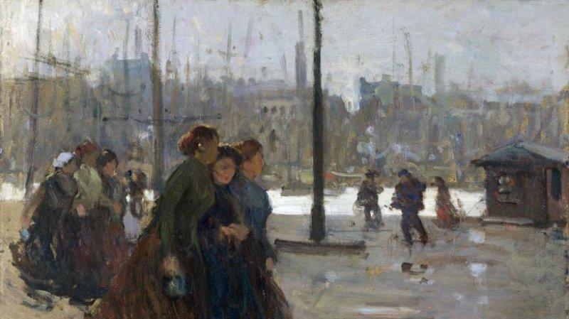 Femmes de marins sur les quais de Boulogne-sur-Mer, Peindre sous la IIIème République, MBA Dole