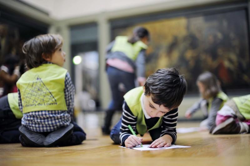 Atelier enfant Dessins d'architecture au Musée du Louvre octobre 2017