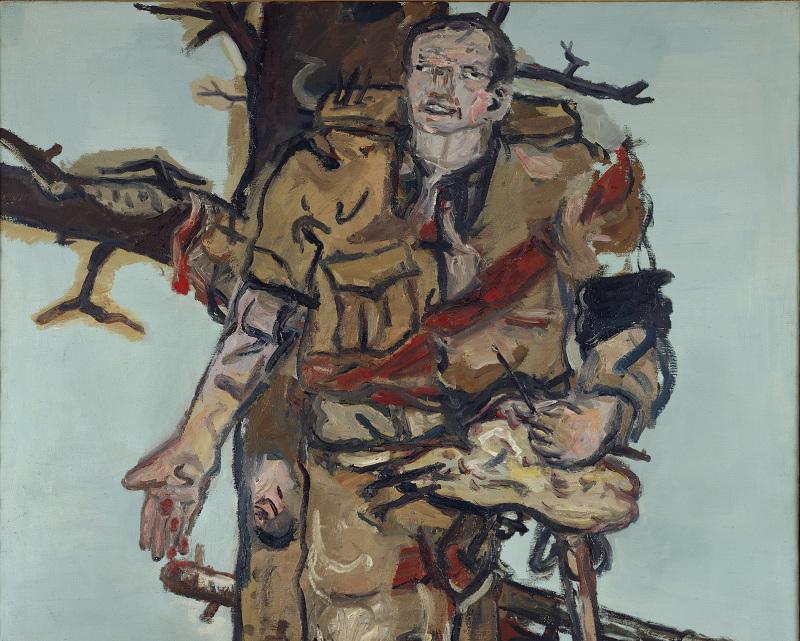 Georg Baselitz, Le peintre bloqué (Versperrter Maler), 1965