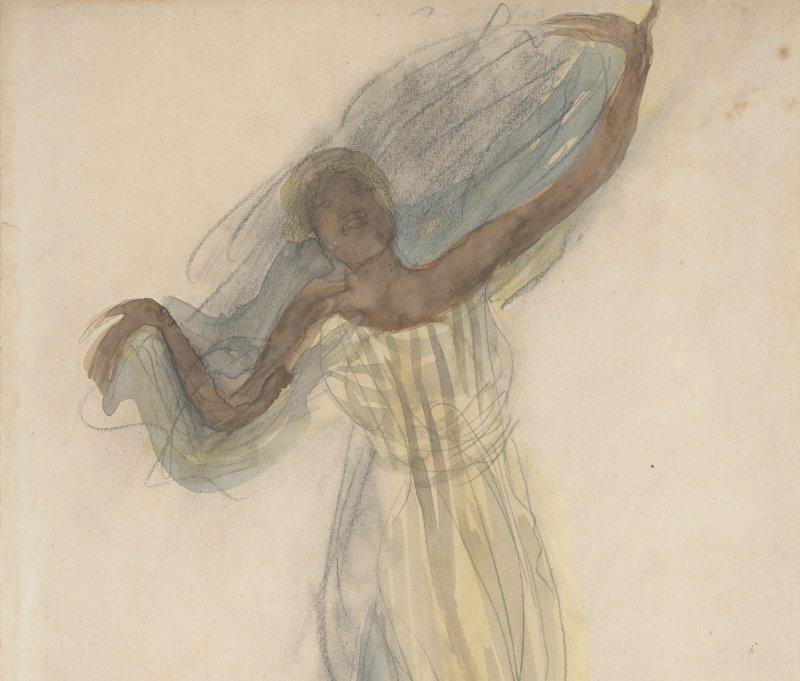 2. Rodin et la danse - Danseuse cambodgienne de face