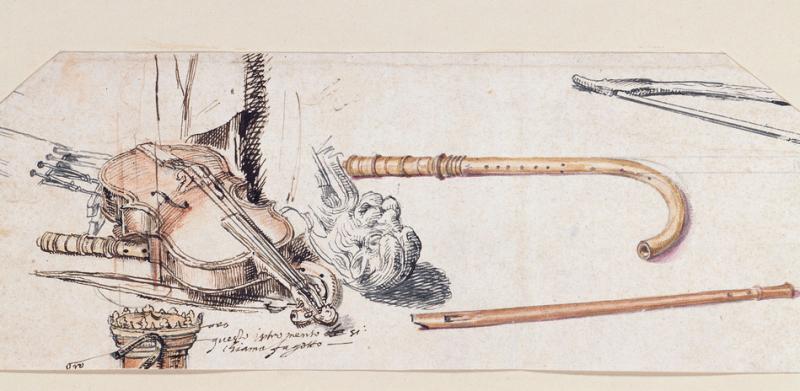 Giovanni da Udine 1487-1567, Musical Instruments