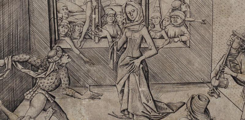 "Israhel van Meckenem der Jüngere um 1440 - 1503, ""Der Moriskentanz"""