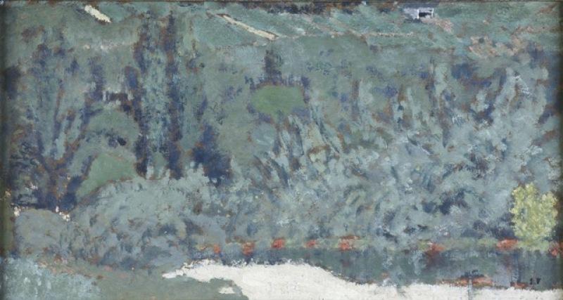 Edouard Vuillard, Jardin au chemin blanc, exposition Les modernes et le paysage, musée de l'Abbaye Saint-Claude
