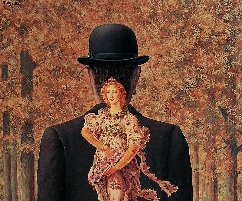MAGRITTE, le bouquet tout fait, 1956