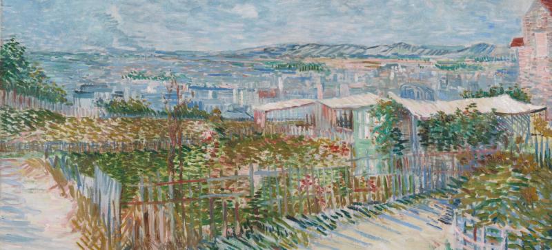 Vincent Van Gogh, Montmartre Behind the Moulin de la Galette, 1887