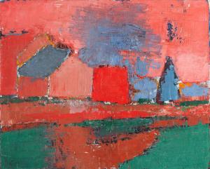 Nicolas de Staël, Arbres et maisons (paysage), 1953 - Applicat-Prazan, Paris - FIAC 2017