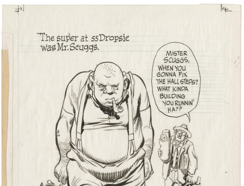 Will Eisner, Page extraite du 3eme chapitre, The super C