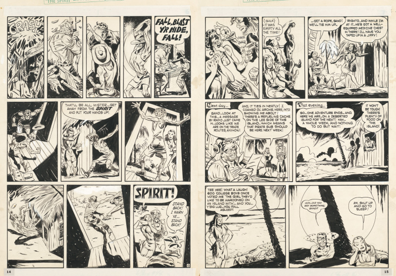 Will Eisner, Pages extraites de The island, the spirit, 1950