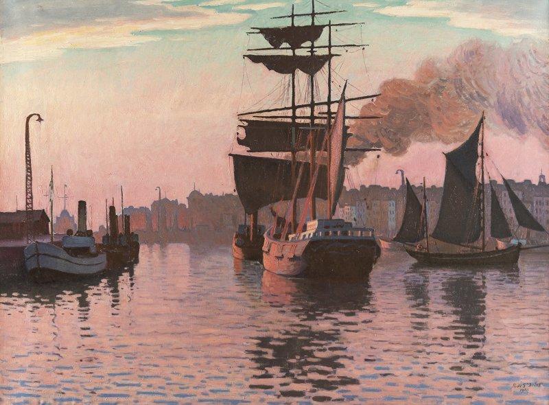 Vue de l'exposition, Henri et René de Saint-Delis, Musée Eugène Boudin de Honfleur