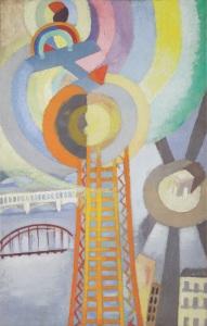 Robert Delaunay, La Tour Eiffel et l'avion, 1925 - Galerie Le Minotaure, Paris - FIAC 2017