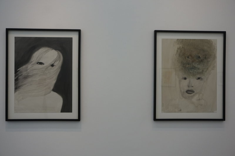 Vue de l'exposition Klara Kristalova, Camouflage à la Galerie Perrotin