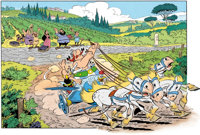 Astérix, transitalique, expo in the city, bande dessinée