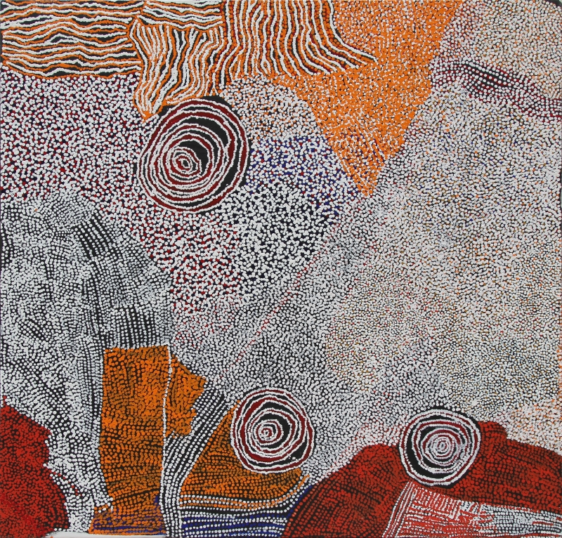 Bill Whiskey Tjapaltjarri, Rockholes and country near the olgas, 2008, Les derniers grands initiés