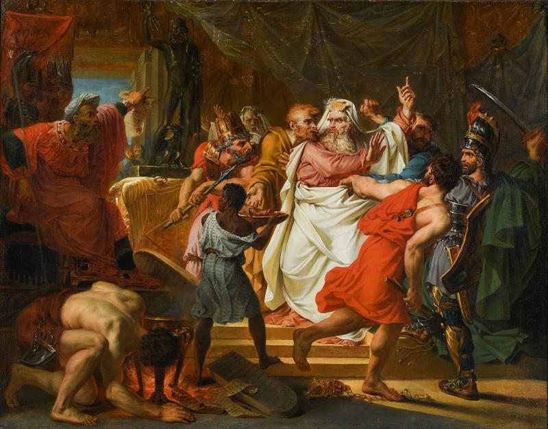Antoine Jean Baron Gros, Eléazar préférant la mort au crime de violer la loi en mangeant des viandes défendues, Exquises esquisses, Musée Magnin