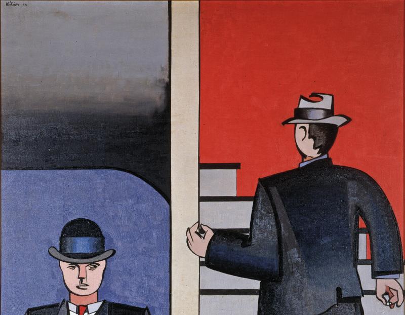 Jean Hélion, L'escalier, Galerie Malingue