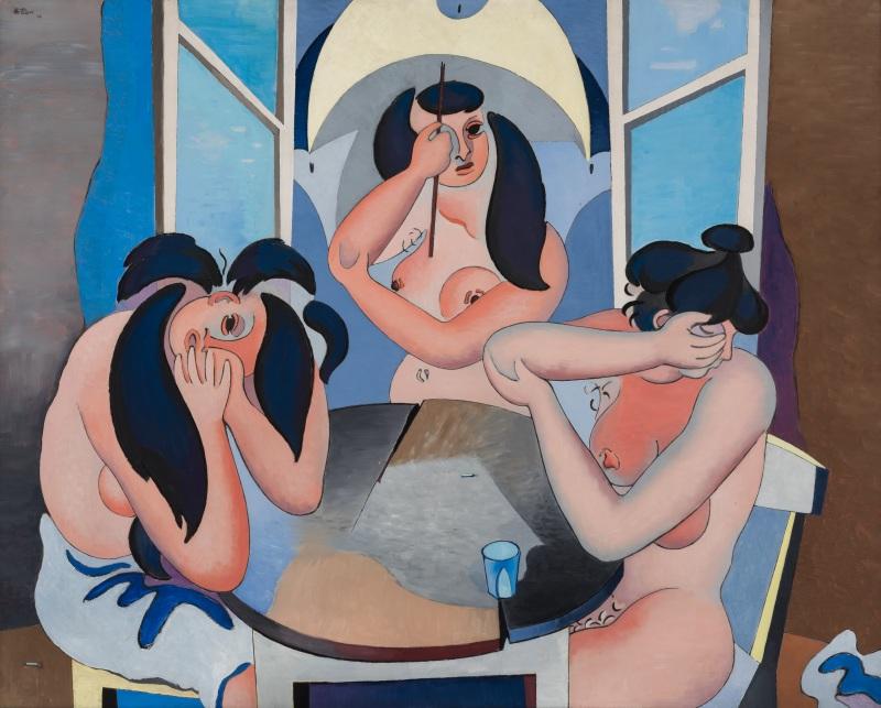 Jean Hélion, Les trois nus, Galerie Malingue